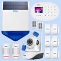 KERUI Outdoor Solar Flash Alarm WIFI Camera GSM Security Alarm System Suite Wireless Home Application Control Security System