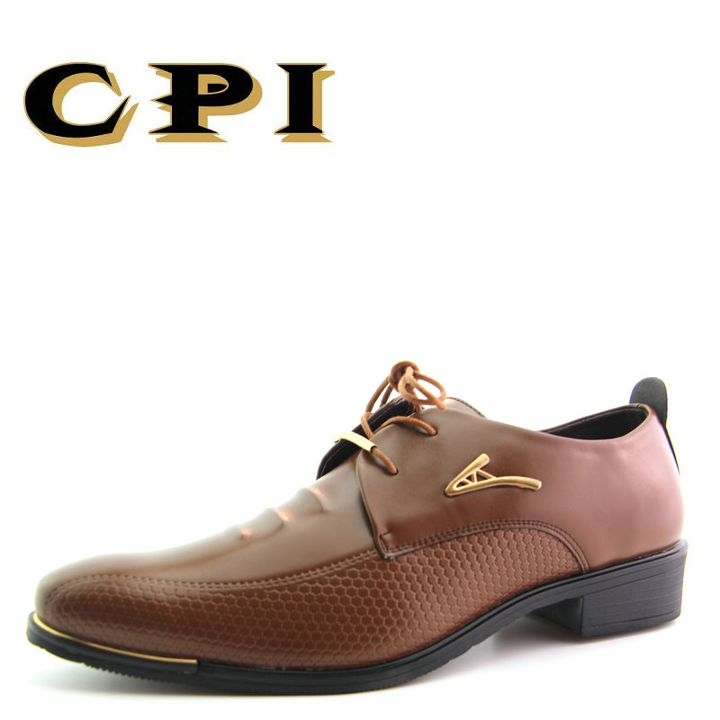 CPI New Men's dress shoes Fashion design British Style Crocodile - Men's Shoes