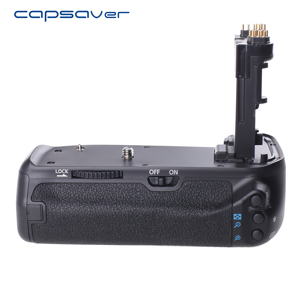 capsaver Vertical <font><b>Battery</b></font> <font><b>Grip</b></font> for Canon EOS 70D <font><b>80D</b></font> DSLR Camera Replace BG-E14 Multi-Power <font><b>Battery</b></font> Holder Work with LP-E6 image