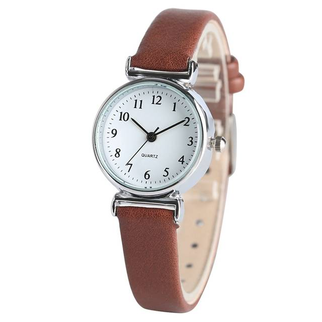 233a864e039 Women s Bracelet Watches Black White Brown Red Small Dial Ladies Quartz  Simple Wrist