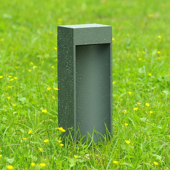 2 Pieces Lot Outdoor Stand Pole Column Led Lawn Light Villa Garden Park Light Modern