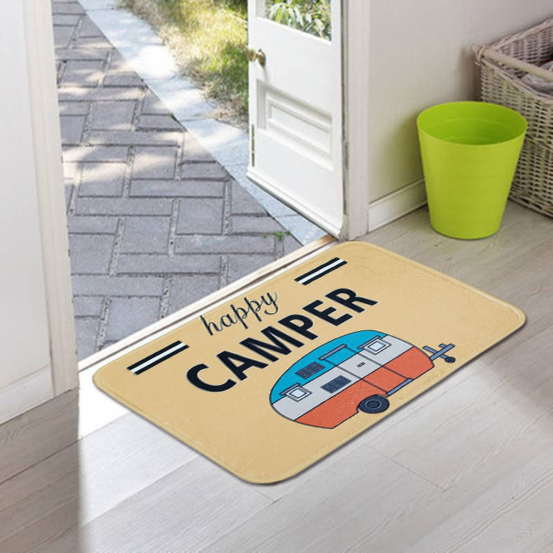 2019 Hot New Products Happy Camper Camping Door Mat Entrance Floor Rug Bathroom Pad Non Slip Carpet Accessories Tool Home #30