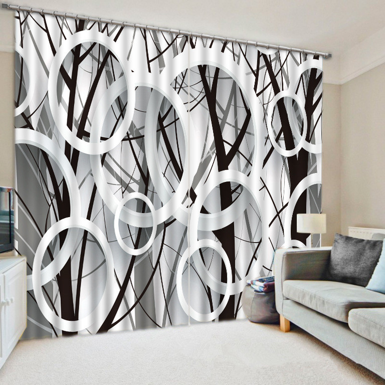 3D  Creative  Trees Photo Window Curtain For Bedding Room
