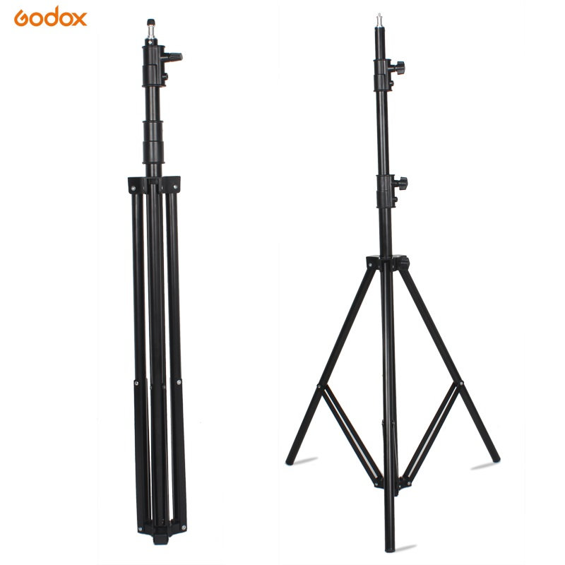 Godox 280cm 2.8m Photography Video Studio Light Tripod Support Stand With 1/4 Screw For Softbox Lamp Holder LED Light FlashGodox 280cm 2.8m Photography Video Studio Light Tripod Support Stand With 1/4 Screw For Softbox Lamp Holder LED Light Flash