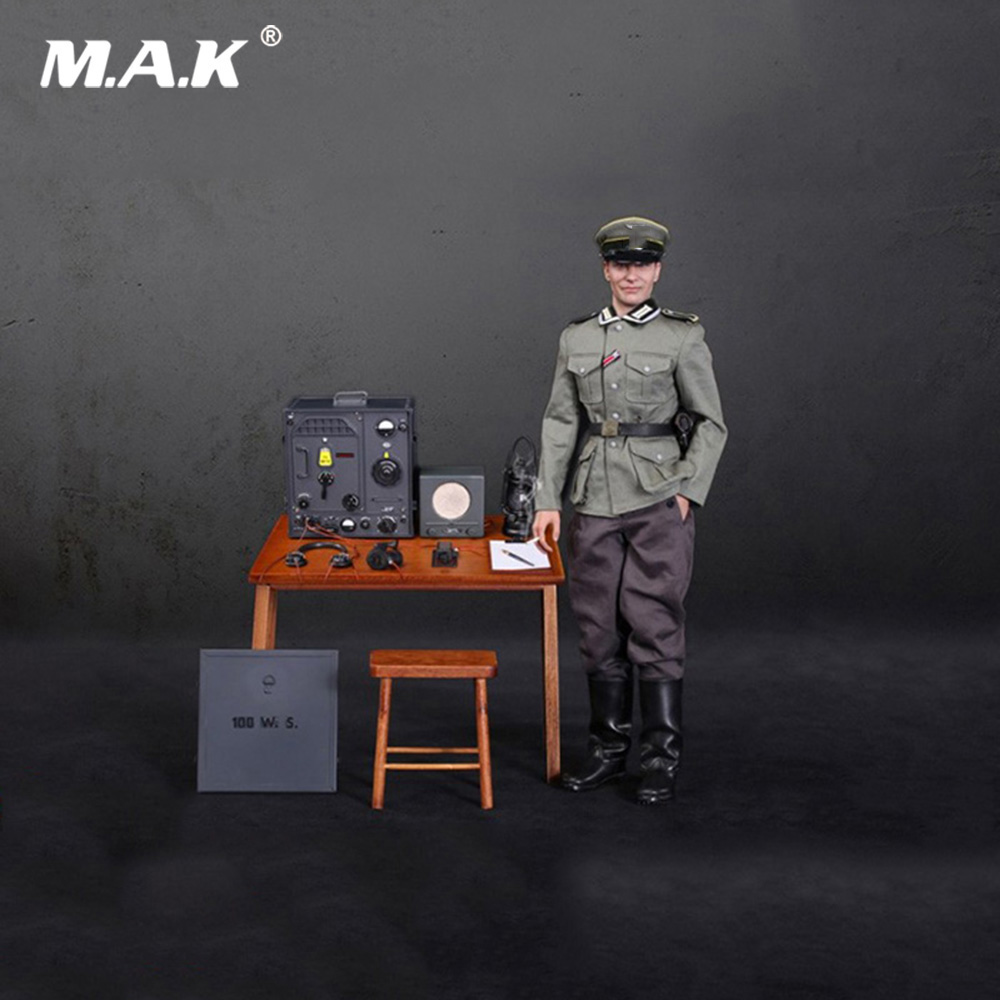 1/6 Collectible Full Set Solider WWII Communications 3 with Radio Operator Aceessory Action Figure Model for Fans Holiday Gifts