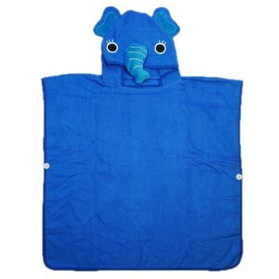 3 цвета, детский пляжный Халат с капюшоном с изображением слона, монстра и щенка из мультфильма - Цвет: blue elephant