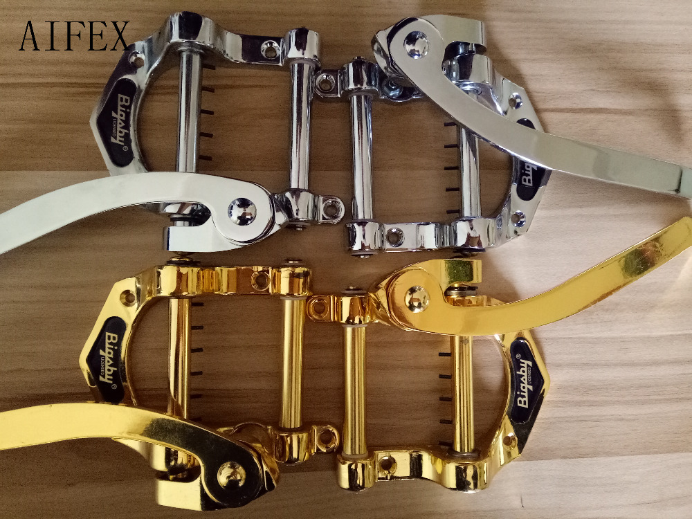 Nové populární Vintage B5 kytara Vibrato Tremolo Tailpiece Gold a Chrome dokončení hudební nástroj elektrický jazz