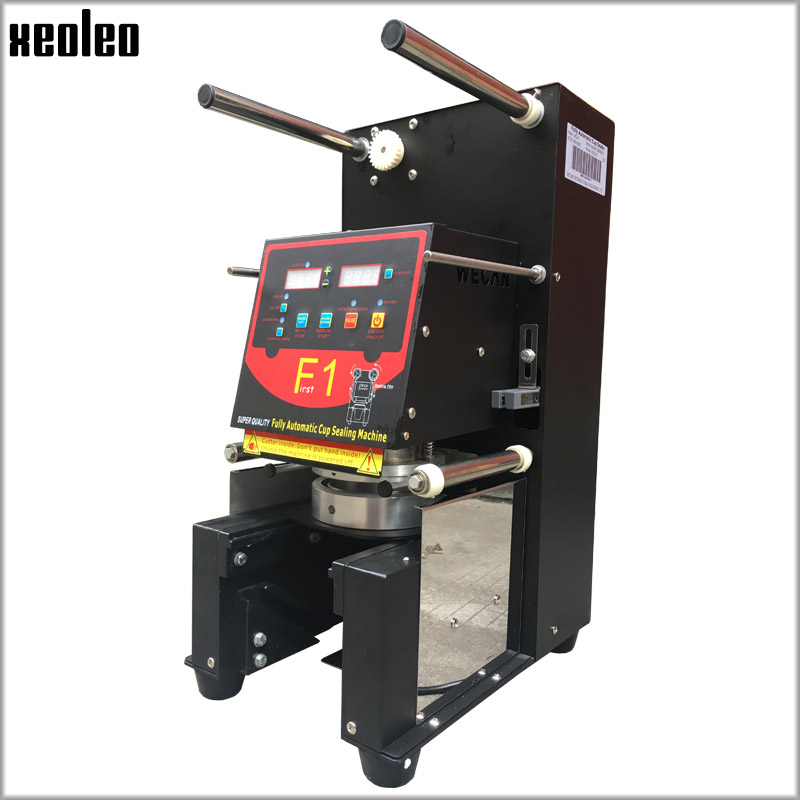 Xeoleo Full Automatic Cup sealing machine Bubble tea machine Cup sealer For 90/95/98mm PP/PET/Paper Cups 220V/110V Customizable карабин v i pet монтажный 90 9мм 5шт