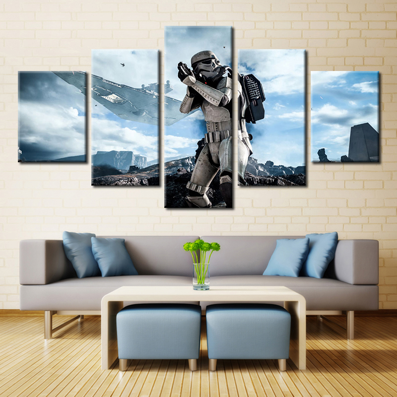 Imperial Home Decor: 5 Pieces Star Wars Imperial Stormtrooper Modern Home Wall