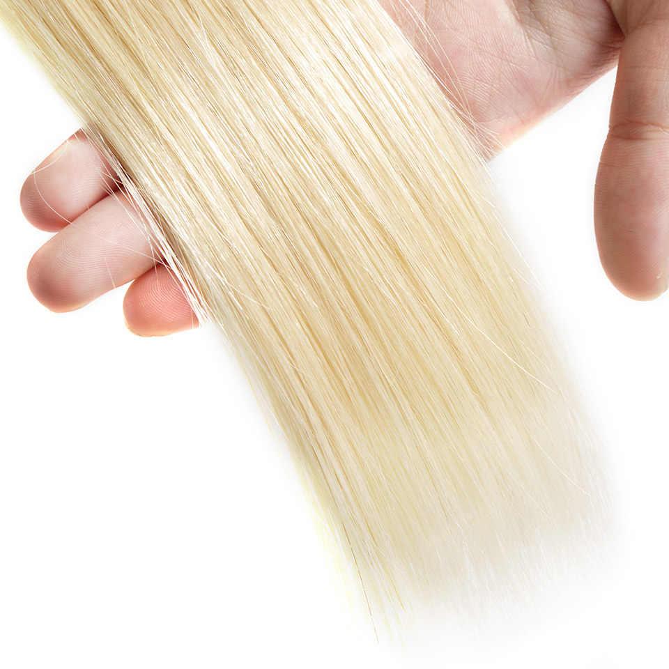 Оплетка ILARIA волос бразильский 613 светлые волосы пучки прямые 100% человеческих волос Weave полный толстый Bundle 12-28 дюймов бесплатная доставка