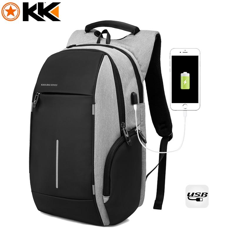 KAKA Rugzak Brand Design USB Charging Men Backpack 15 inch Laptop Bag Backpack Male Waterproof Schoolbag Backpack Mochila 1