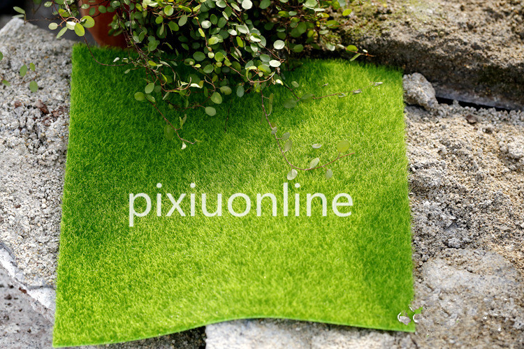 1pc DS56 Emulation Grass Mat Green Artificial Lawns 15x15cm Carpets Fake Garden Moss for Floor Decoration Free Shipping Russia uland 6pcs 50cm 50cm artificial photinia hedge bicolor boxwood mat g0602a016 st3