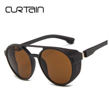 CURTAIN 2019 Retro Steampunk Sunglasses Round Designer Steam
