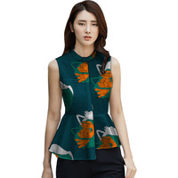 Пользовательские Дашики одежда женские рубашки с принтом женские индивидуальный дизайн, стиль без рукавов топы мода printting Африка одежда