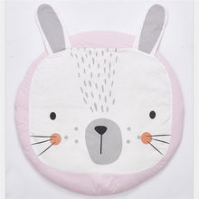 Round pink Rabbit Crawling Blanket Infant Play Game Mats baby kids Crawling Rug kids Floor Carpet Room Decoration 2 colors 90CM(China)