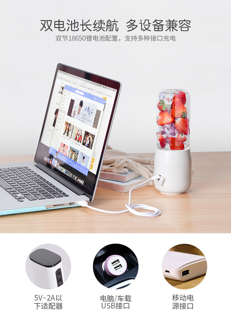 Juicer   Automatic  Portable USB Rechargeable Mini Juicer Machine Fruit Juicer Students Small Electric  Juice Cup 14