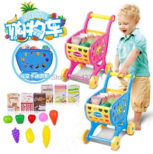 Simulation Einkaufswagen Pretend Play Möbel kinderwagen Spielzeug ...