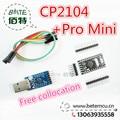 Бесплатная Доставка 1 ЛОТ = 2 ШТ. = 1 ШТ. CNT-003 CP2104 Serial Converter USB 2.0 Для TTL 1 ШТ. BTE13-010 Pro Mini