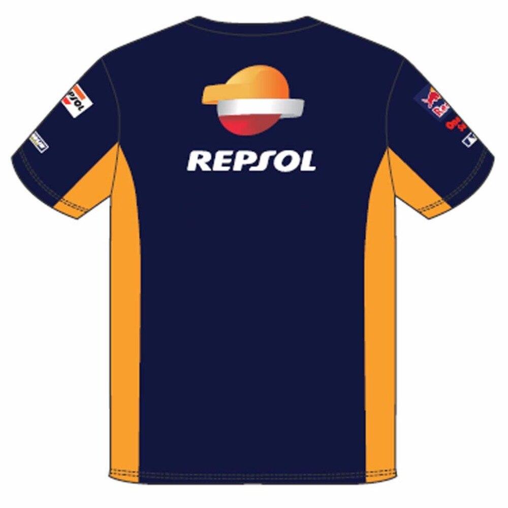 Moto Man's Repsol Gas T-Shirts HRC Racing Clothing Motorbike Motorcycle gp T shirt Motorsport for Honda Team 1