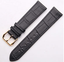 16 Mm 18 Mm 19 Mm 20 Mm Pria Wanita Hitam Coklat Watch Tali Band Hitam Coklat Leather Gold Stainless steel Buckle(China)