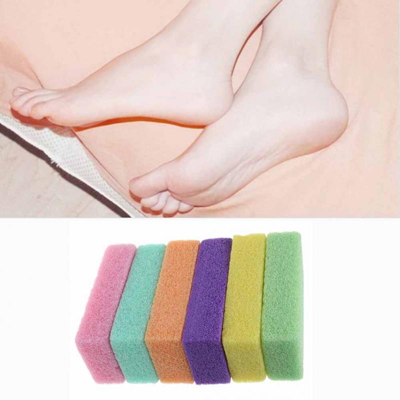 Image 4 - 1pc Pedicure/Foot care Foot Pumice Stone pedicure tools for foot rub your feet's dead skin make feet smooth and comfortable ~-in Foot Care Tool from Beauty & Health