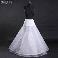 MisShow New Trắng A Line Wedding Petticoat Jupon Mariage Phụ Kiện Đám Cưới Khung Làm Cái Vái Phùng Váy Lót Cưới Váy
