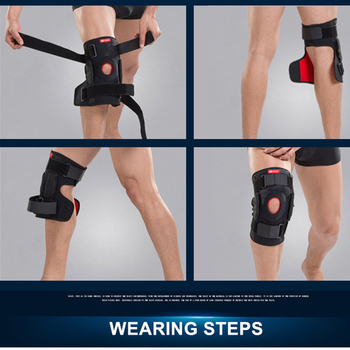 1PC Knee Joint Brace Support Adjustable Breathable Knee Stabilizer Kneepad Strap Patella Protector Orthopedic Arthritic Guard 4