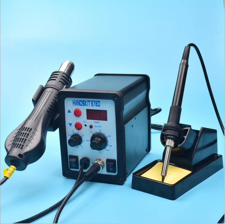 878D 2 in 1 dual use brushless Digital display Hot air Soldering Stations + Electric Soldering Irons for Maintenance cellphone ip65 outdoor aluminum wall lamp ac86 265v waterproof garden porch corridors villas courtyard decoartion wall lights dynasty