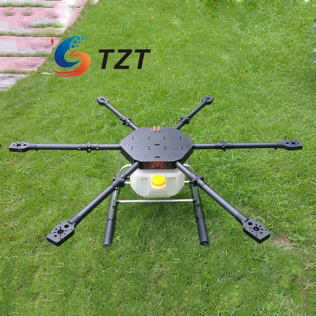 Drone Hexacopter FPV 6 Ejes de Fibra de Carbono de Protección Fitosanitaria Distancia Entre Ejes de 1600mm para la Producción Agrícola