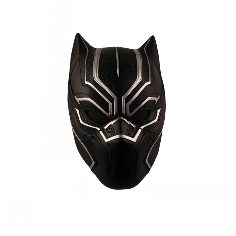 Captain America Black Panther Helmet Cos Halloween Terror Mask Televisio COSPLAY Creative Resin Artware Props Dress Up Ball L419 future warrior mask breathable full face mask terminator helmet halloween cosplay horror human skeleton helmet halloween props
