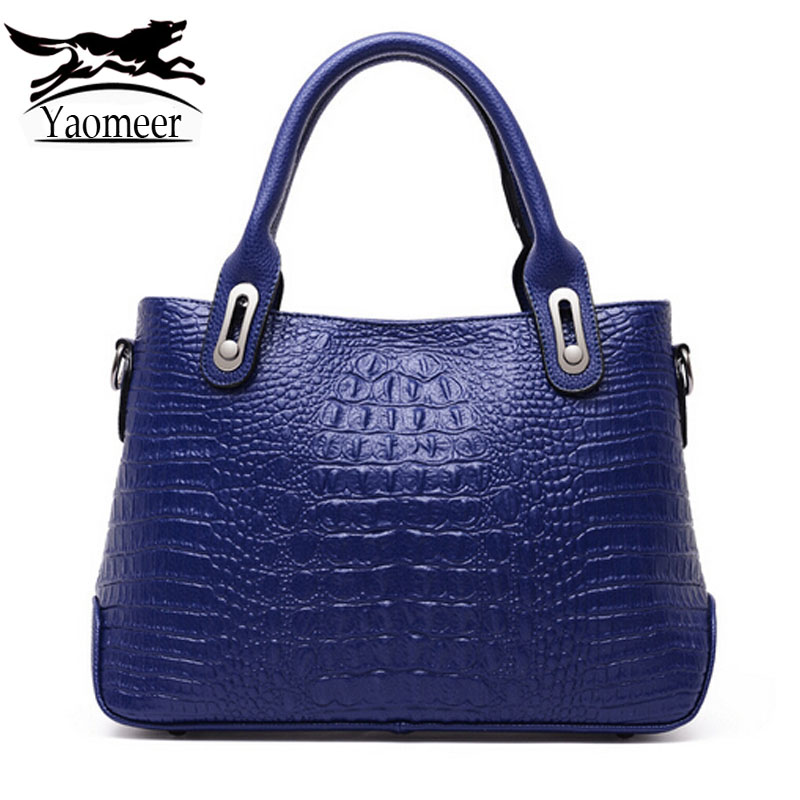 Luxury Crocodile Handbags Women Bags Designer Pu Leather Shoulder Crossbody Bags Female Famous Brands Totes Blue Messenger Bag bailar fashion women shoulder handbags messenger bags button rivets totes high quality pu leather crossbody famous brand bag