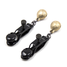 Sex toys for women nipple clamps, black metal clip bell flirting adult sex toys products. CP-20HSHRTJ8-5Y