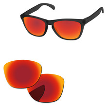 Поликарбонат-огонь красный зеркальные Сменные линзы для Frogskins Солнцезащитные очки Рамка UVA и UVB Защита