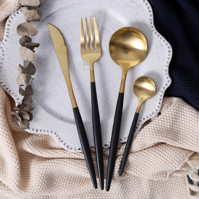 Stainless Steel Flatware Set 16 pcs 11 Colors with Giftbox
