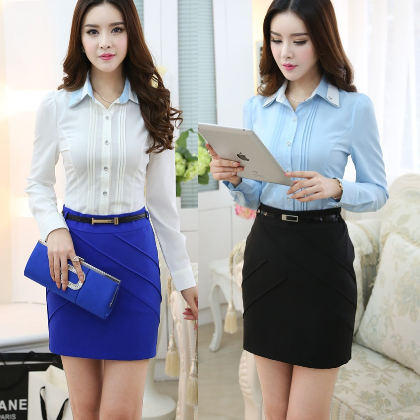 New 2015 fall fashion ladies professional office uniform for Office uniform design 2015