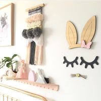 Ins Nordic Style Home Rabbit Ears Beard Eyelashes Partner Wall Stickers Children Gifts Children S Clothing