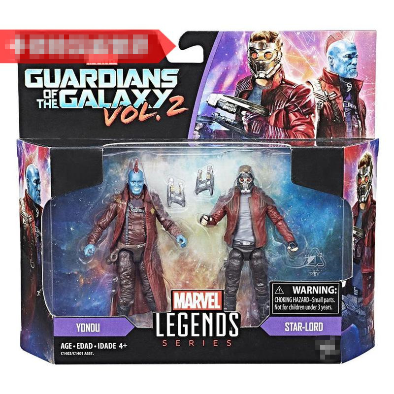 2 pack Boy Toy Original Garage Kit Figurine Marvel: Guardians of The Galaxy - Star-Lord, Yondu Collectible Figure Model Toy