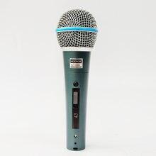 Портативный Проводной микрофон для караоке beta58a sm58s поющий