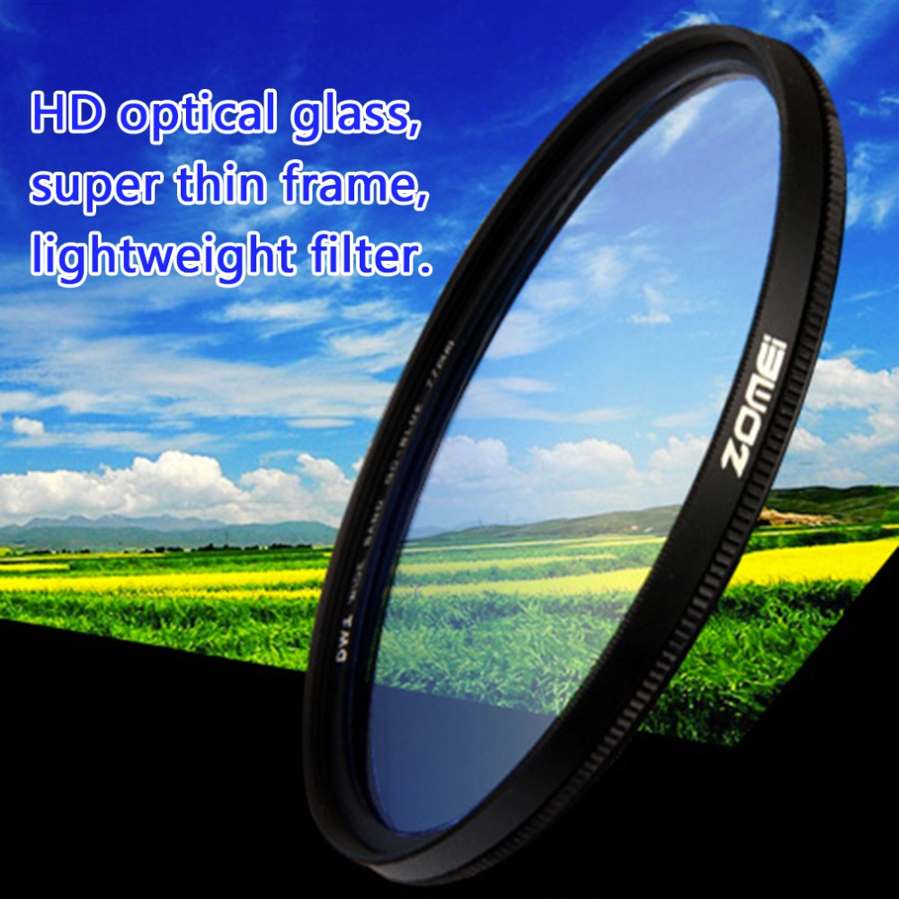 Zomei Super Slim Lightweight Graduated Grey Neutral Density ND Optical Filter For Camera 49mm 52mm 58mm 67mm 72mm 77mm 1