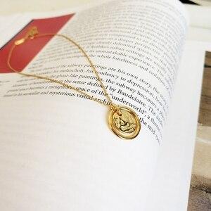 Image 4 - LouLeur 925 sterling silver Eternal love gold pendant necklace seas run dry rocks crumble creative neckalce for women jewelry