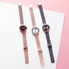 relogio feminino Women Marble Watch Fashion Rose Gold Starry Sky Quartz Crystal Wrist Luxury Bracelet Watches