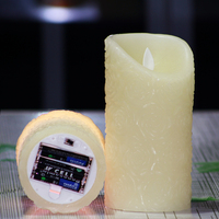 2pcs Set Remote Control Flameless Real Wax Votive Led Pillar Candle Daily Timer For Holiday Decoration