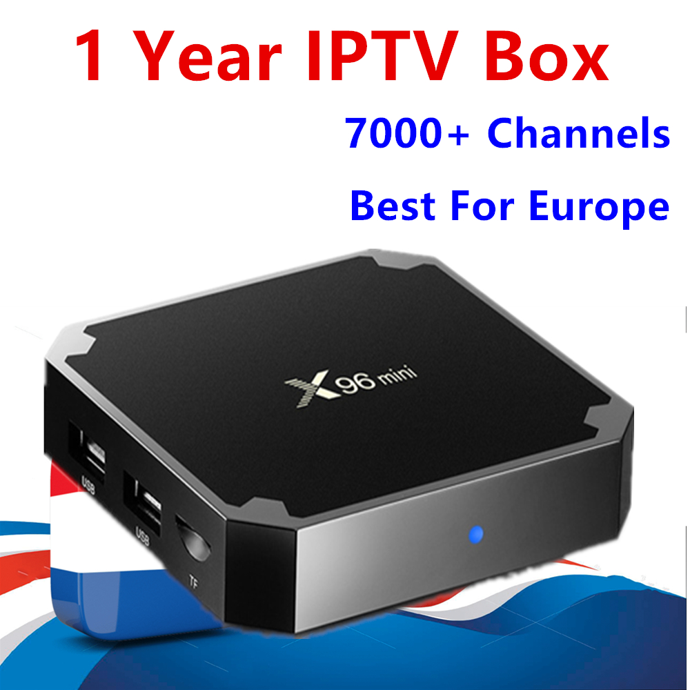 Europe IPTV Box X96 mini Android 7.1 TV Box 1G/8G +1 year IPTV subscription Netherlands French Spain Dutch IPTV for smart tv box цена 2017