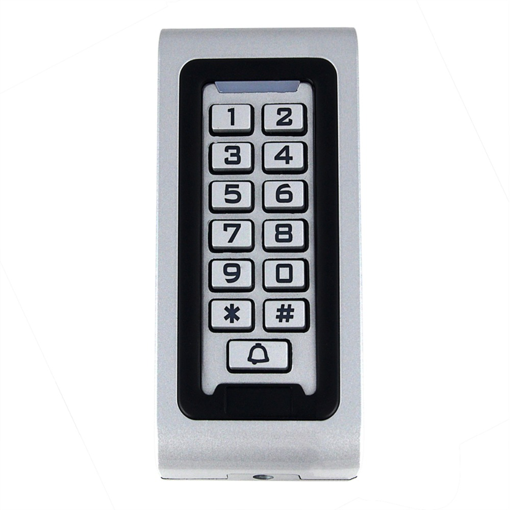 RFID Proximity 125Khz EM Card Reader LED Keypad Standalone 2000 Users Door Access Control Waterproof Metal Case rfid standalone access control keypad 125khz card reader door lock with 10 proximity key fobs for door security system k2000