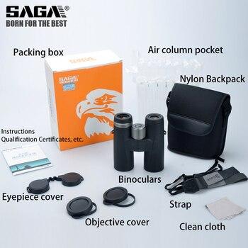 Saga High Definition Binoculars 8X42 10X42 ED Lens Camping Hunting Scopes Large Eyepiece Telescope Professional Binocular Hd 5