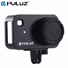 PULUZ Housing Shell CNC Aluminum Alloy Protective Cage with 37mm UV Filter Lens for Xiaomi Mijia Small Camera