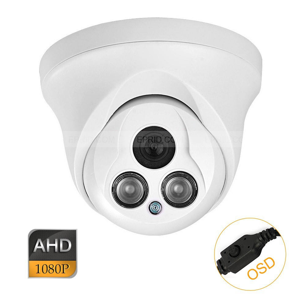 CCTV AHD 2.0MP 1080P 1/3 HD Sony CMOS OSD IR-Cut Security Indoor Camera ahd m l video camera security 1 0mp sensor 720p cmos hd analog 960h camara vigilancia vandalproof 24pcs led osd hd lens ir cut