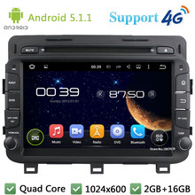 Quad Core 8″ 1024*600 Android 5.1.1 Car DVD Video Player Radio Screen USB BT FM DAB+ 3G/4G WIFI GPS Map For Kia K5 OPTIMA 2014