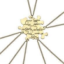 5 PCS Puzzle Splice Best Friends Necklace Jewelry Letter Always Together Never Apart BFF Necklace Set Wholesale цена