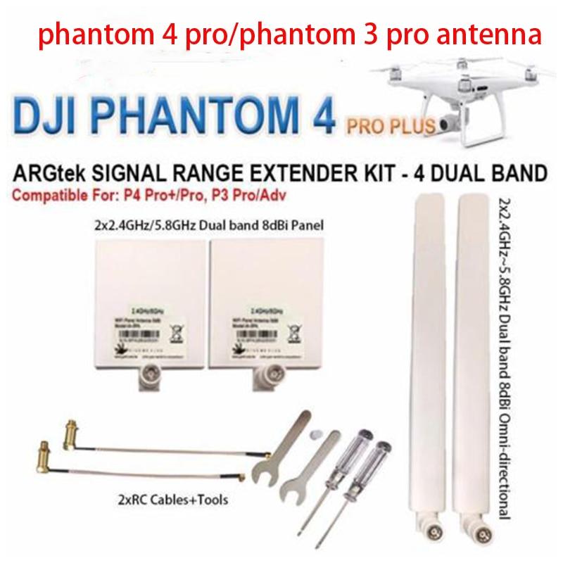 DJI Phantom 4 pro Kit Antenna 2.4G 5.8G Antenna Range Extender kit per DJI Phantom 4 PRO +, 4 PRO/ADV, 3 PRO/ADV Inspire 2